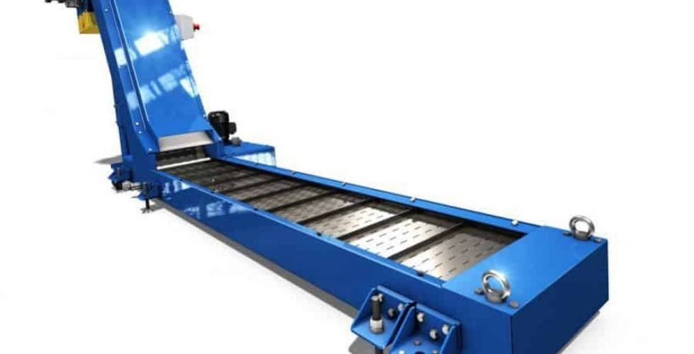 Most machines can be supplied with a chip conveyor.