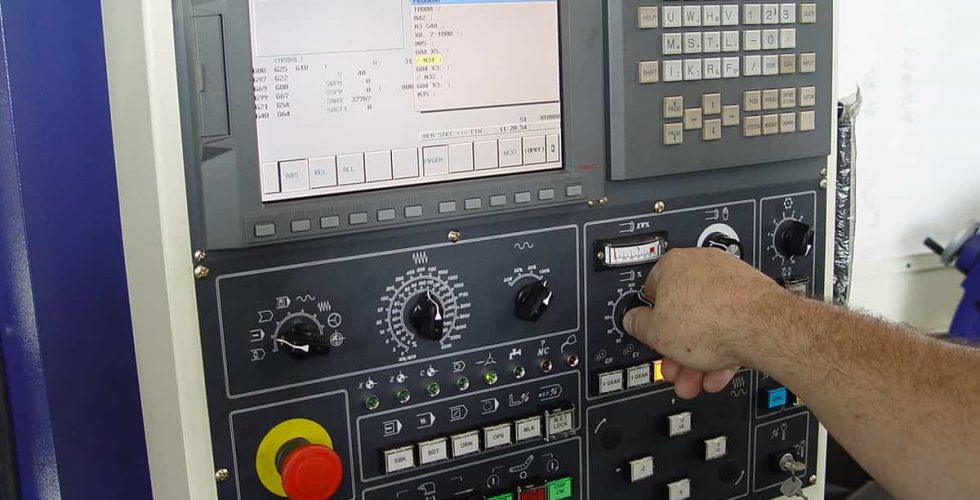 Fanuc CNC Control.